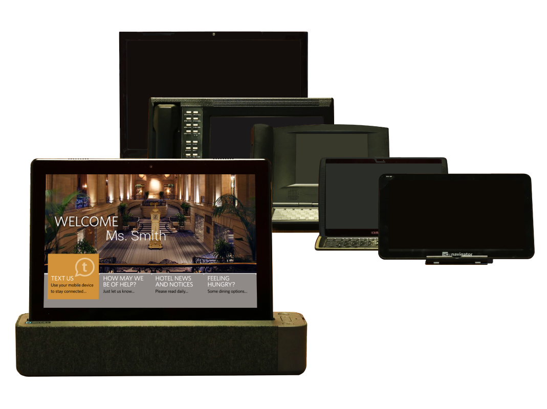 History of the hotel guest room tablet